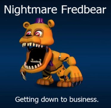 FNaF World Nightmare Fredbear!