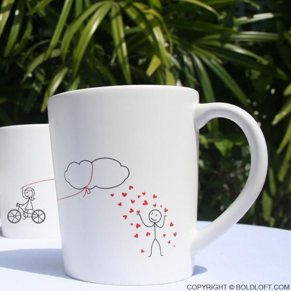 If rain Here you bring your beloved one's the daily weather forecast: Heavy showers of hearts, followed by warm hugs and kisses. Every morning, start your day with these adorable and whimsical his and hers coffee mugs can sure to put smiles on your sweetheart's face! These his and hers coffee mugs are perfect couples gifts for anniversary, Valentine's Day, Christmas, wedding, engagement, bridal shower, dating, honeymoon, thinking of you, long distance relationships, and just becau...
