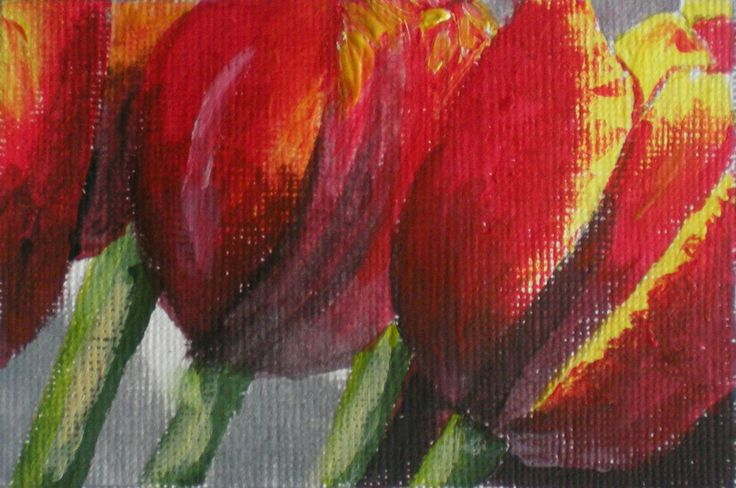 Tulpen Acryl 10x15 cm