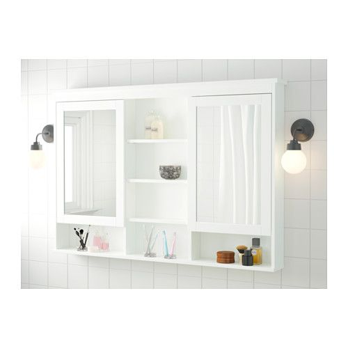 ikea bathroom storage cabinet hemnes mirror cabinet with 2 doors white mirror 17542
