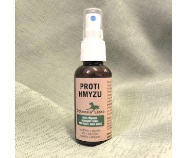 Proti hmyzu, klíšťatům a blechám - přírodní ochranný sprej 50 ml
