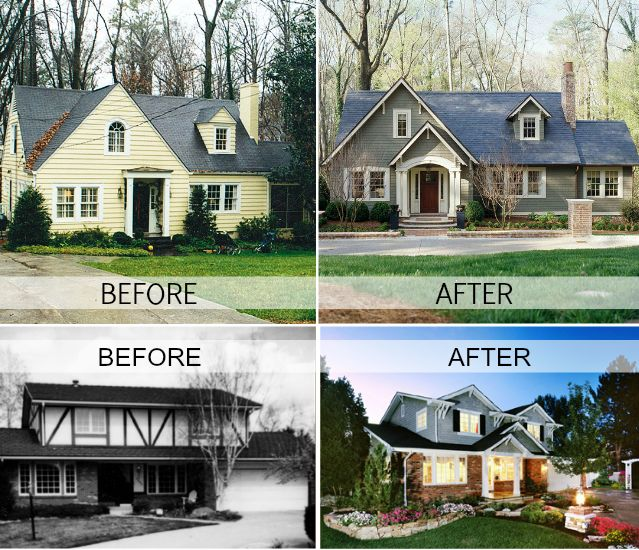 A great way to update your home to sell upcycle your house ideas house exterior - Home exteriors before and after ...