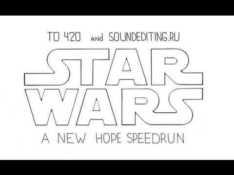 Star Wars A New Hope in 60 seconds. Not bad.