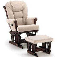 Shermag Glider and Ottoman - Reviewed and rated at Mommyhood101.com
