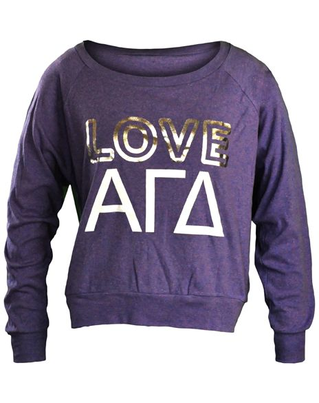 Alpha Gamma Delta Love Pullover from Adam Block Design