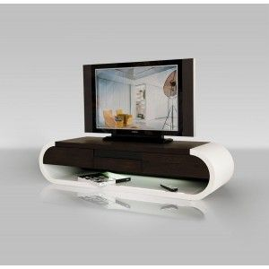 TV091 Modern Two-Tone TV Entertainment Unit w/ Light - Entertainment Center - Living Room