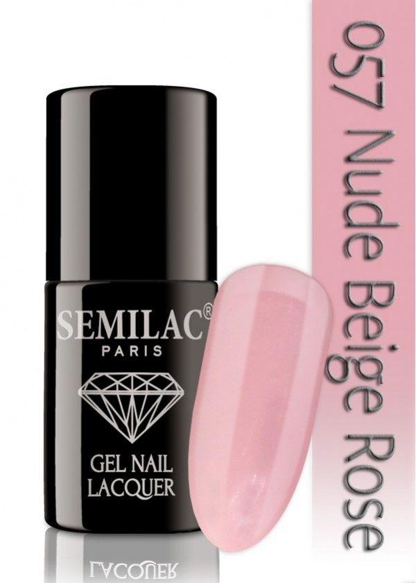 Semilac 057 Nude Beige Rose UV&LED Nagellack. Auch ohne Nagelstudio bis zu 3 WOCHEN perfekte Nägel!