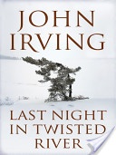 LAST NIGHT IN TWISTED RIVER John Irving  Last Night in Twisted River is a 2009 novel by American writer John Irving, his twelfth.The novel spans five decades and is about a boy and his father who flee the logging community of Twisted River on the Androscoggin River in northern New Hampshire after a tragic accident. While on the run, the boy grows up to become a famous writer.