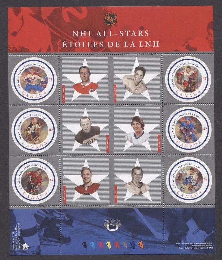 Canada #1885 $2.82 2001 NHL All Stars Souvenir Sheet NF/DFIv Paper VF-84 NH | eBay