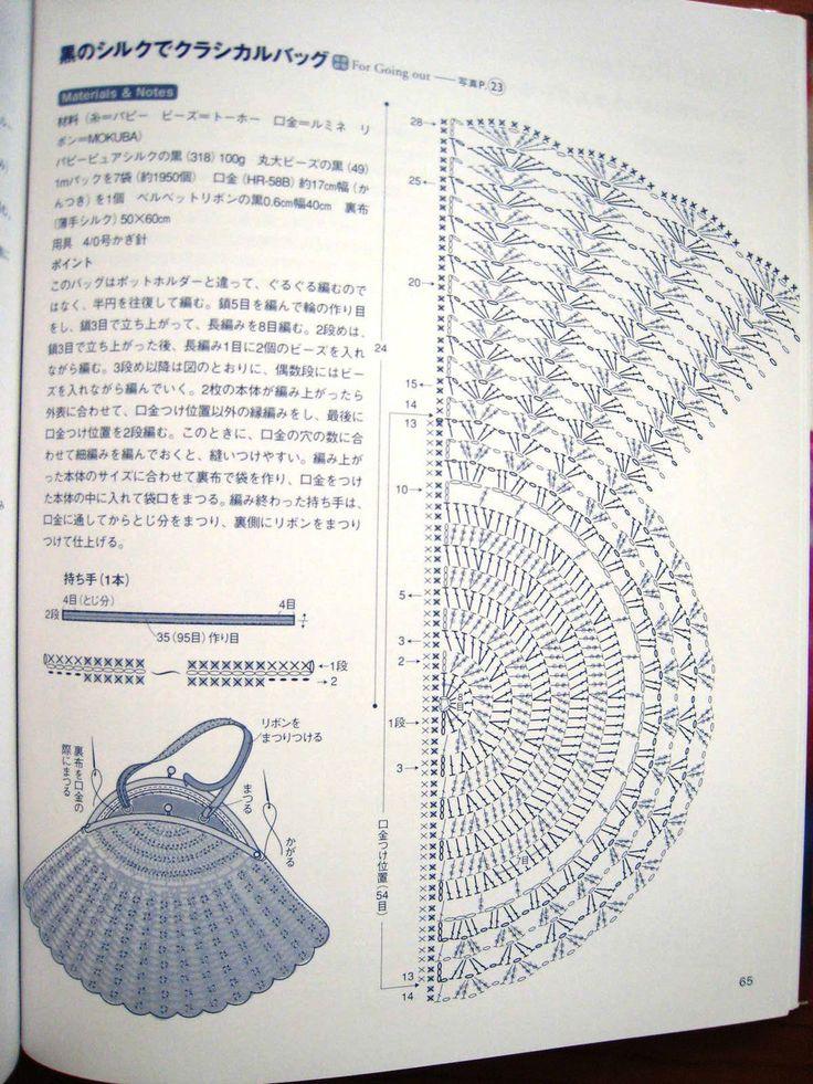 536 best Torebki  schematy     bags       crochet    images on Pinterest