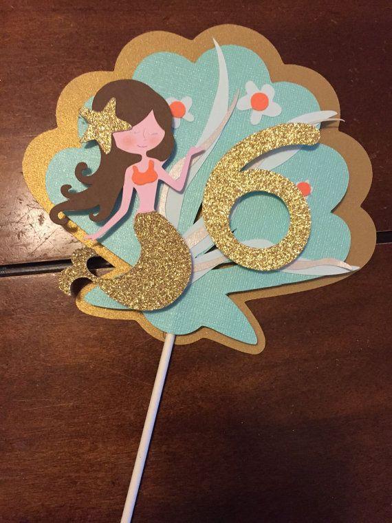 Mermaid Cake Topper Isabel Birthday Pinterest Mermaids Mermaid Cakes And Cakes