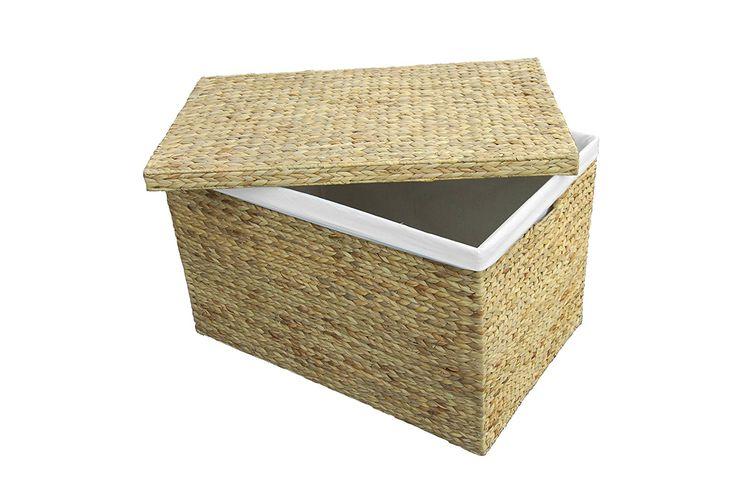 Medium Marlow Rattan Natural Storage Trunk / Toy Basket / Hamper: Amazon.co.uk: Kitchen & Home