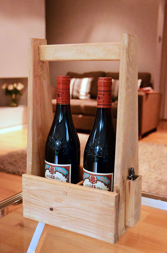 Handmade wooden wine carrier by FivePastSeven on Etsy, £25 ...