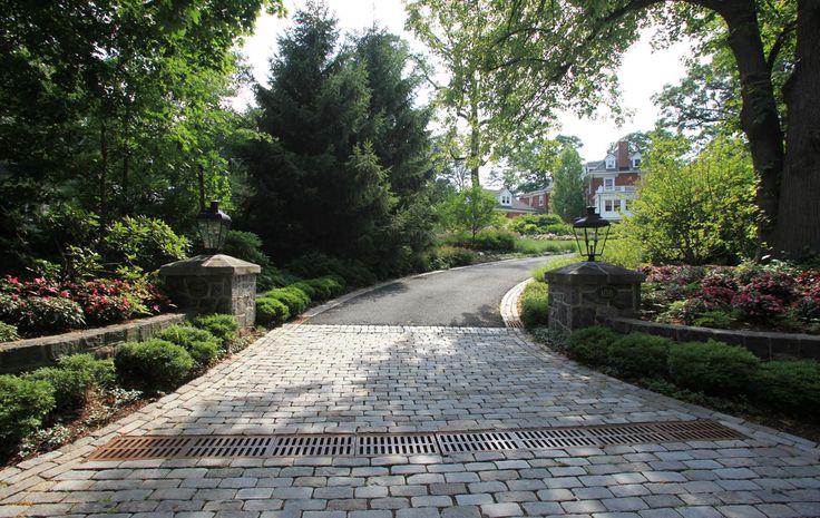 pictures of driveway entrances   Summit NJ Landscape Design, Landscaping Summit NJ, Summit NJ Landscape