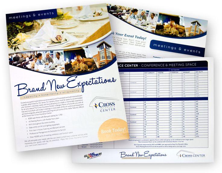 Cross Insurance Center Sales Materials