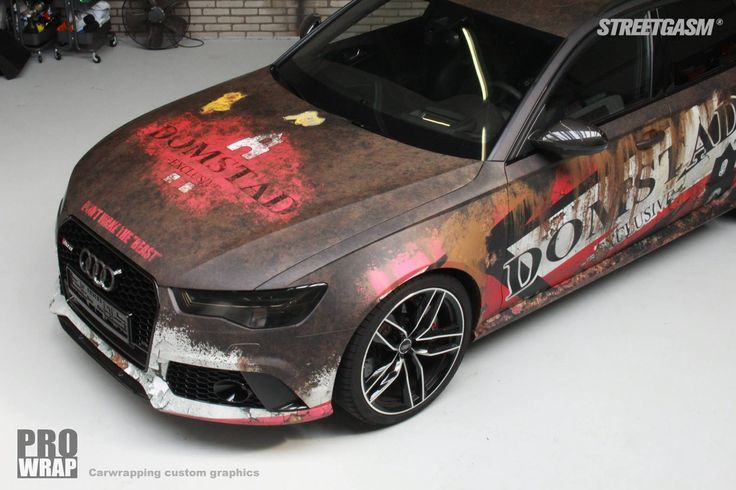 Awesome unique rusty livery project for Audi RS6