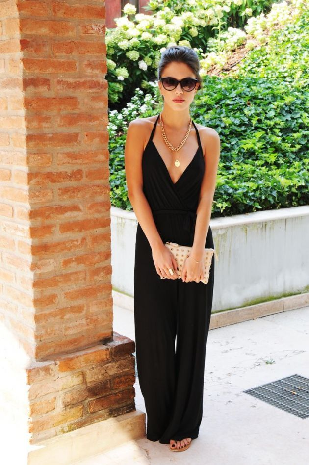17 Best ideas about Black Jumpsuit Outfit on Pinterest | Black ...
