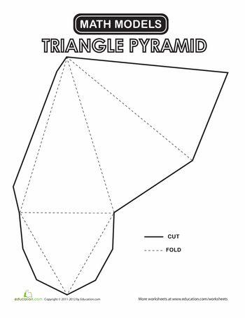 33 best Geometrische Figuren images on Pinterest Paper crafts - pyramid template