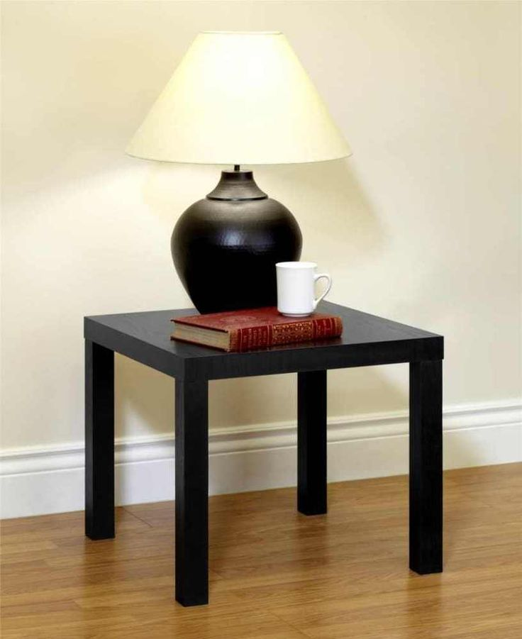Good Black End Table Night Stand Living Room Elegant Home Decor Furniture Rich  Finish #DHP #