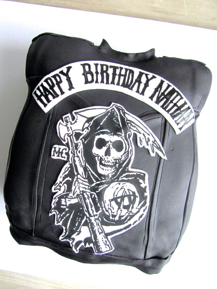 Sons of Anarchy Birthday Cake | Nashville Sweets