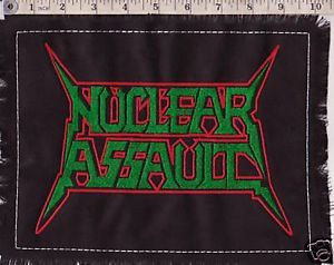 Thrash Back Patches | Nuclear Assault Embroider Back Patch Thrash Metal DRI | eBay
