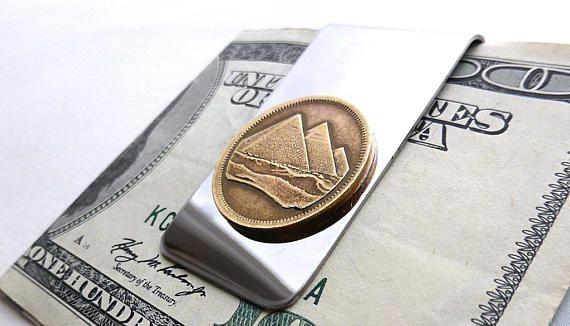 Money clip Egypt Coin money clip Pyramids Men's