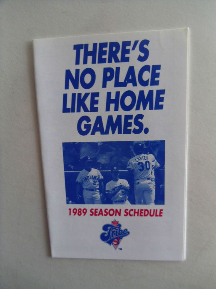 1989-Cleveland Indians-Official Baseball Schedule.