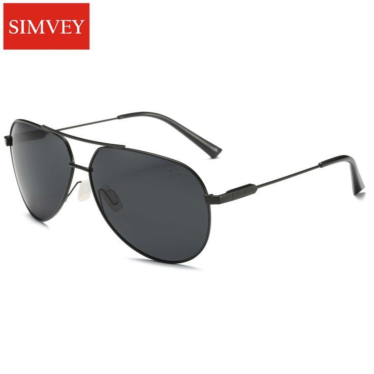 Simvey Fashion Classic Men HD Polarized Sunglasses Brand Designer Retro Vintage Oversized Driving Golf Sunglasses UV400 #Affiliate