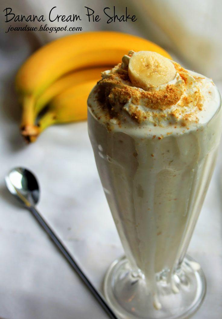 Skinny Banana Cream Pie Shake by joandsue.blogspot.com. Only 250 ...