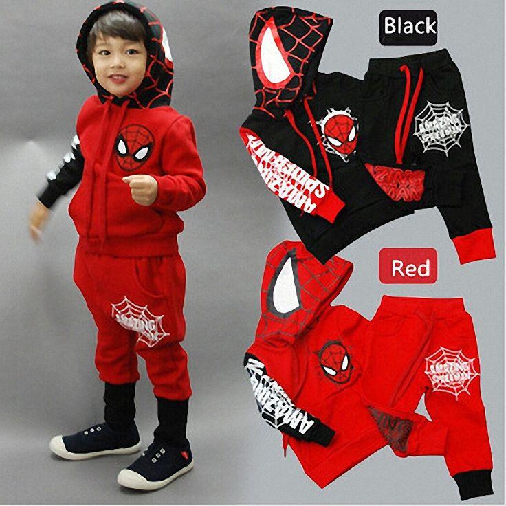 $8.99 (Buy here: https://alitems.com/g/1e8d114494ebda23ff8b16525dc3e8/?i=5&ulp=https%3A%2F%2Fwww.aliexpress.com%2Fitem%2F2015-boys-cartoon-suits-Spring-children-s-fashion-clothing-spider-man-costume-kids-spiderman-sport-suit%2F32293259745.html ) Belababy Boys Clothing Set Spring 2017 Children Long Sleeve Cartoon Spiderman Hoooded Costume Kids Spiderman Sport Clothes Sets for just $8.99