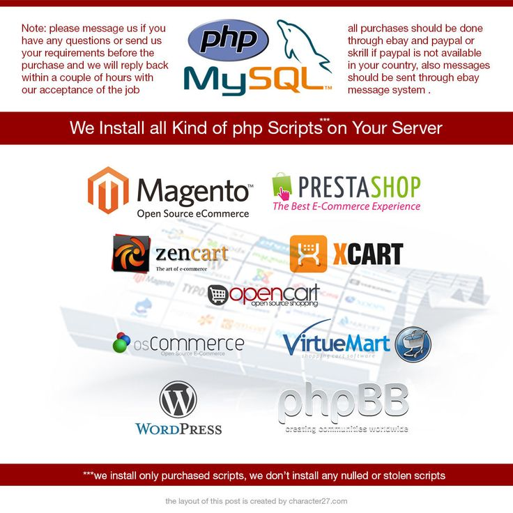 PHP Script Installation WORDPRESS, MAGENTO, FORUMS, PRESTASHOP and lots more