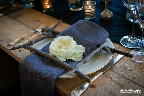 Inspired by the Berkshires - Tablescape design by somethingfab.com   Photography by edwardphotodesign.com