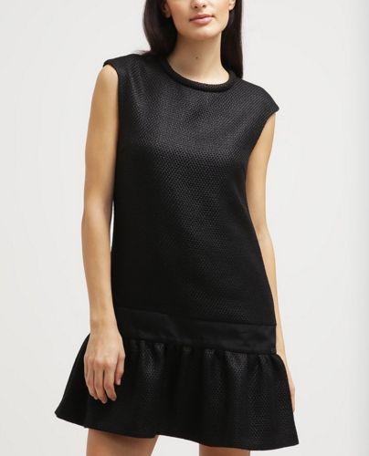 DAY Birger et Mikkelsen MANILA Sukienka czarna z falbaną black