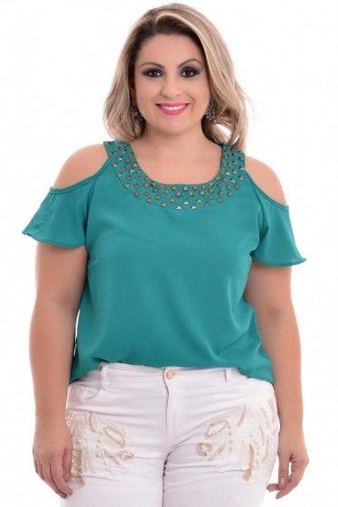 Blusa Plus Size Green Gipsy