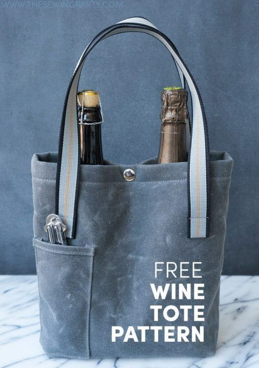 Using heavy waxed canvas for the exterior of this bottle tote, and hisPfaff® quilt ambition™ 2.0,Taylor Hackbarth created this sturdy and attractive bag to hold two medium size wine bottles. Of …