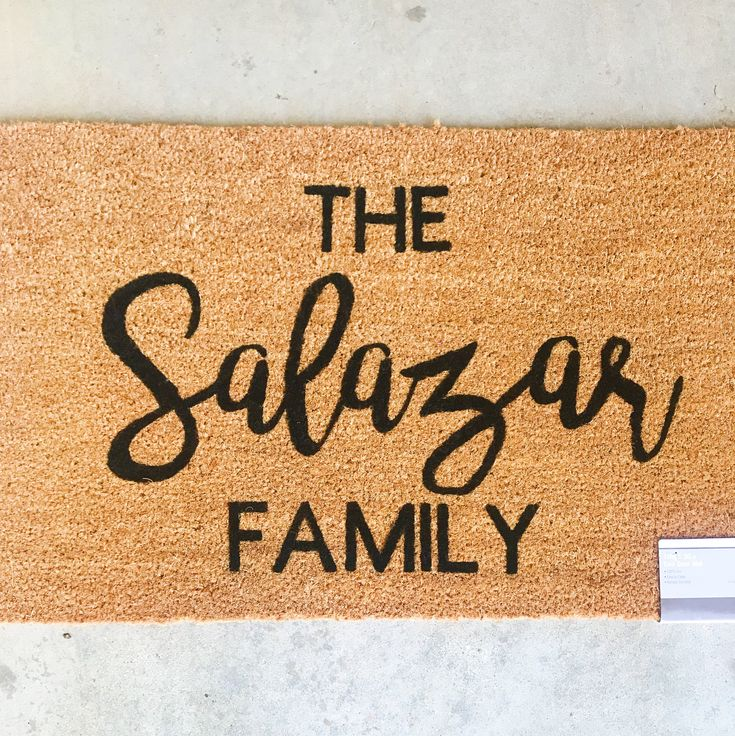 Custom Last Name Family Doormat- Personalized Doormat- Gift for Married Couple
