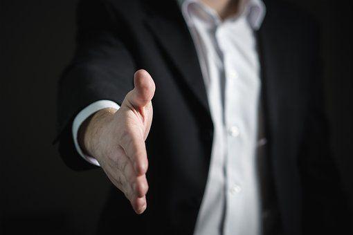 握手, 手, 给, 业务, 男子, 报价, 合作, 协同作用, 协议