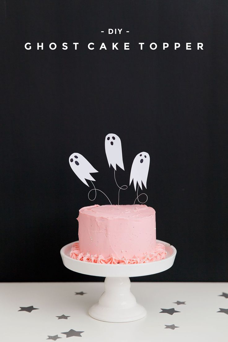 DIY GHOST CAKE TOPPER