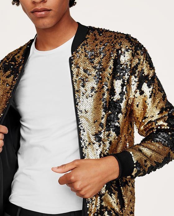 9b5cd1605 Image 3 of SEQUIN BOMBER JACKET from Zara | style in 2019 | Glitter ...