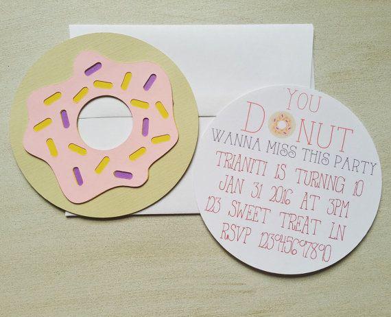 Donut invitations Donut birthday invitations girl by FalcoClan