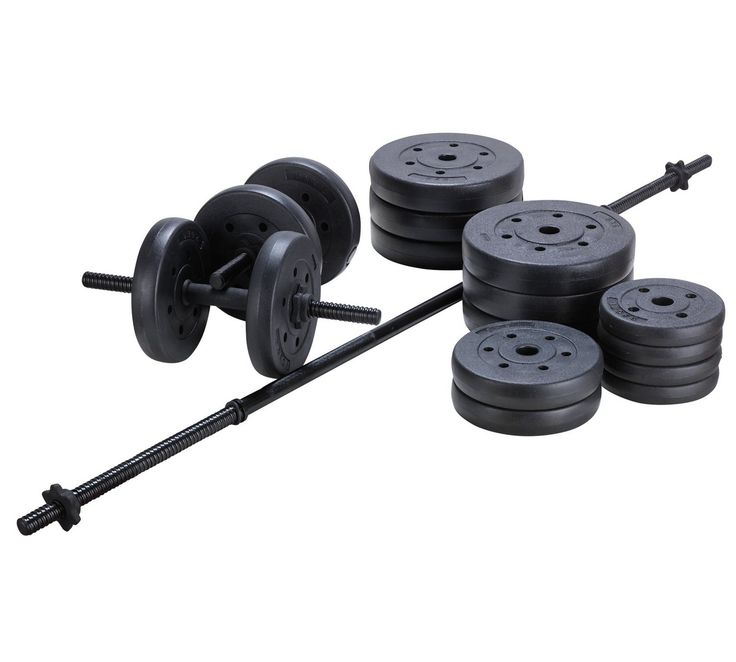 Buy Opti 50kg Vinyl Barbell Dumbbell Set at Argos.co.uk, visit Argos.co.uk to shop online for Weights and dumbbells, Weights, multi-gyms and strength training, Fitness equipment, Sports and leisure