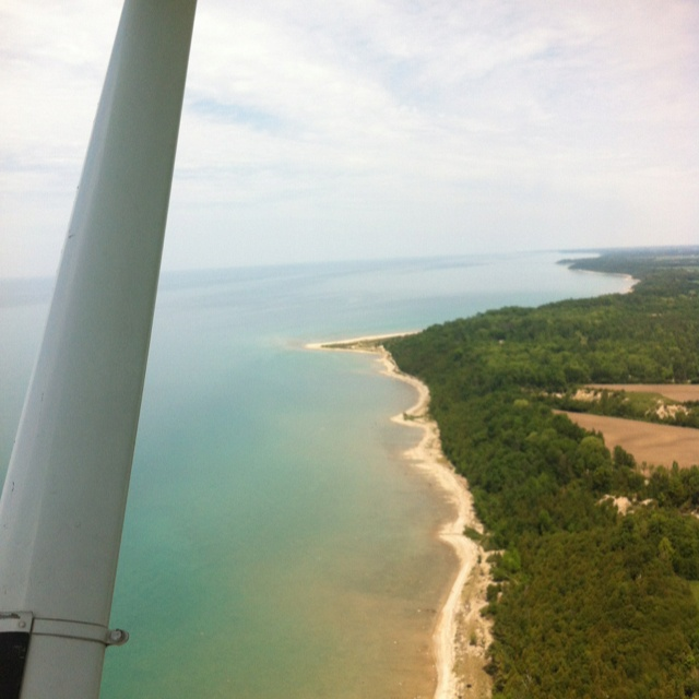 Taking a quick flight over Lake Huron