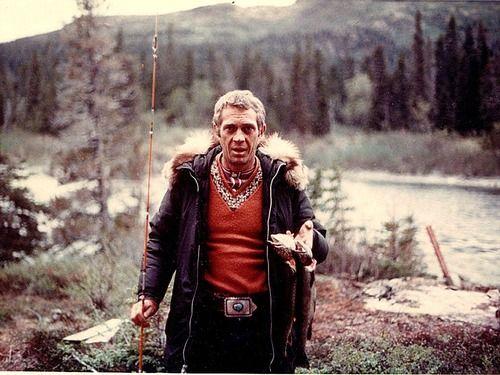 Steve McQueen in the woods