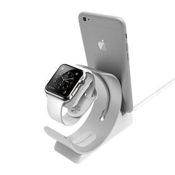 Archee 2 in 1 Aluminum Alloy Charging Stand Holder for Apple iWatch iPhone Sale - Banggood.com