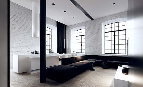 love black window trim with white walls.