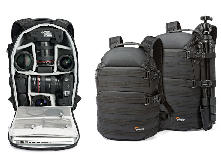 """Lowepro Protactic 350AW en 450AW. De ProTactic AW-serie van Lowepro bestaat uit twee modellen. In ProTactic 350 AW passen 1 à 2 professionele spiegelreflexcamera's, 6 lenzen of flitsers, een 13"""" laptop, accessoires en een statief. ProTactic 450 AW biedt hiernaast nog ruimte voor 2 extra lenzen en heeft een iets groter laptop vak waardoor er een 15"""" laptop in past. #Lowepro #cameratas #fotografie"""