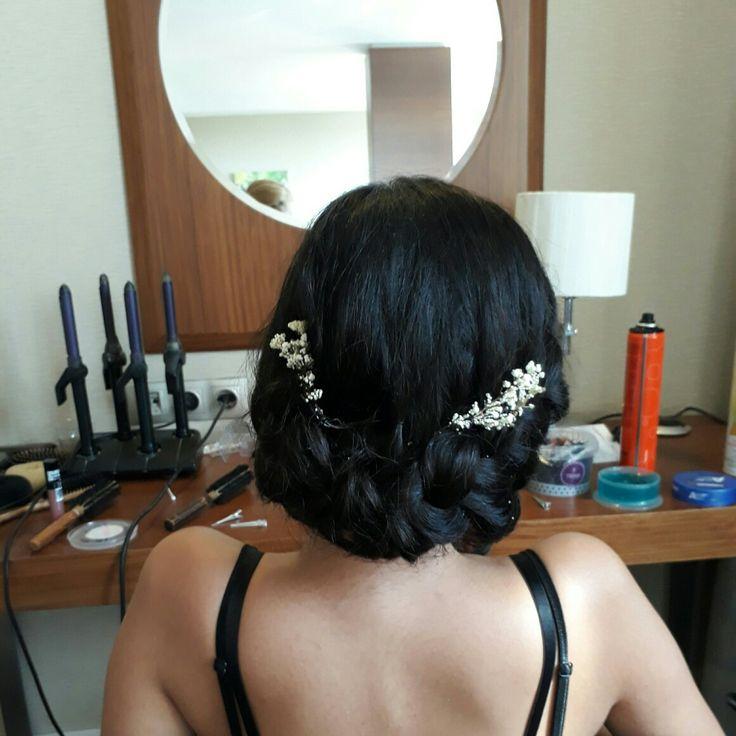 Düğün saç modelleri, şık saç modelleri, örgü saç modelleri