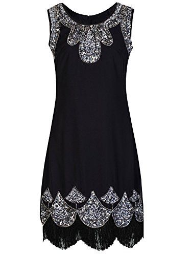 Women's 1920s Vintage Embellished Sequin Beaded Flapper Evening Dress. ✨ ❤·sainaluv.com  One Stop Shop for Women ☀️ New Collections Everyday  Free shipping worldwide ❤️ Extra $10 off coupon code =>>> [ CASH10] At the checkout.