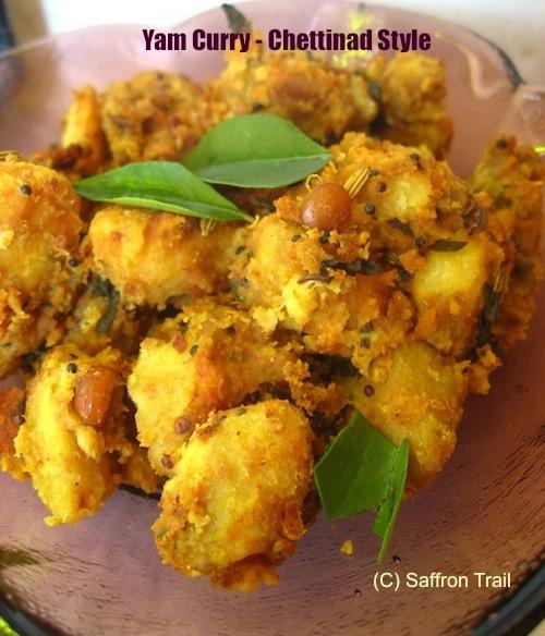 Chettinad style yam curry