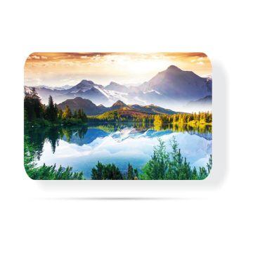 Göl Manzaralı 30 x 40 Cam Tabla